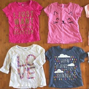 Bundle of 10 girls t-shirts tees short sleeve ts